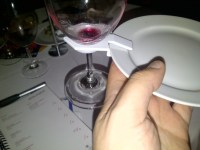 A Plate With A Wine Glass Holder, Talk About Genius