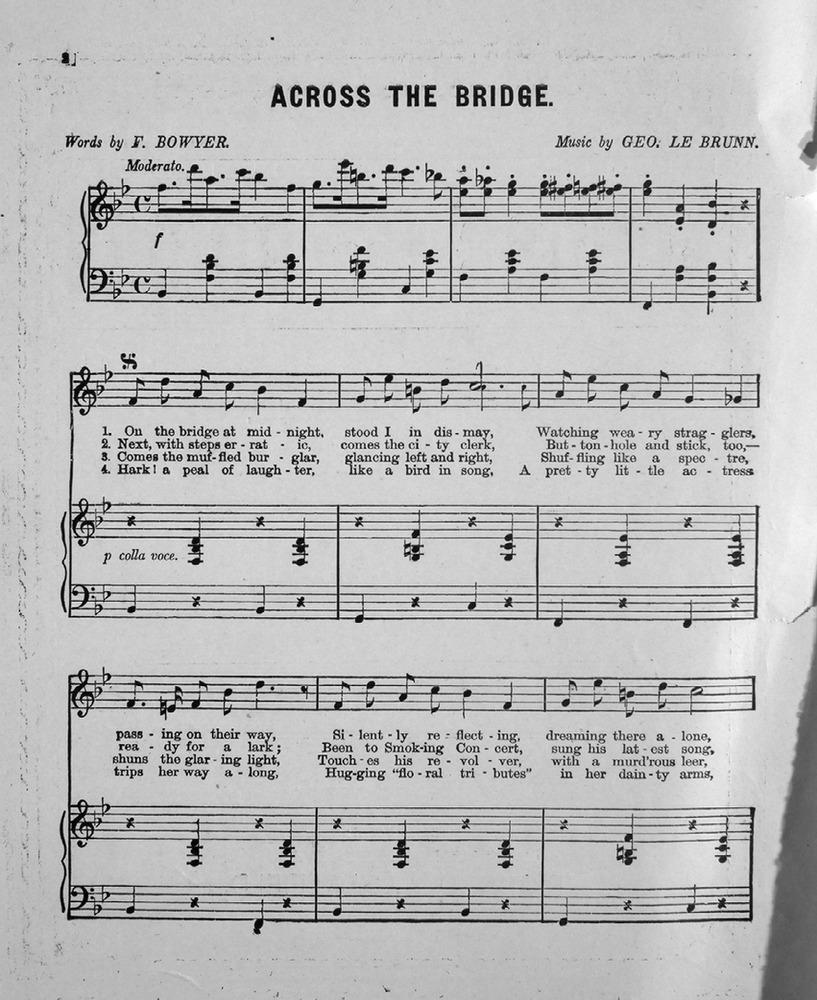 174001  Across the Bridge Descriptive Song  Levy Music Collection