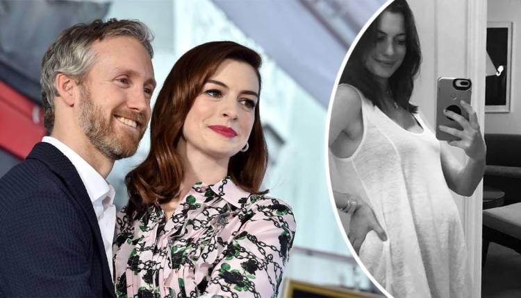 Anne-Hathaway-enceinte-deuxième-enfant-Adam-Shulman