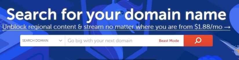 Comment rechercher un nom de domaine alors ?