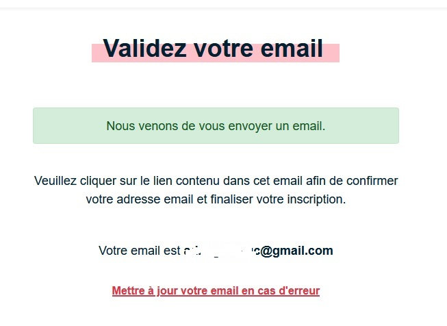 Validation de votre adresse mail - articles sponsorisés