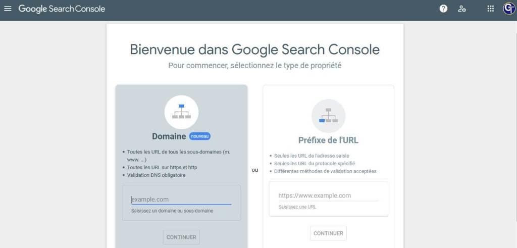 Ajouter un site dans Google Search Console