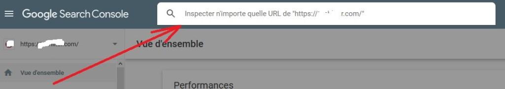 Saisir l'URL à indexer