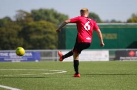 James Hammond strikes his free-kick