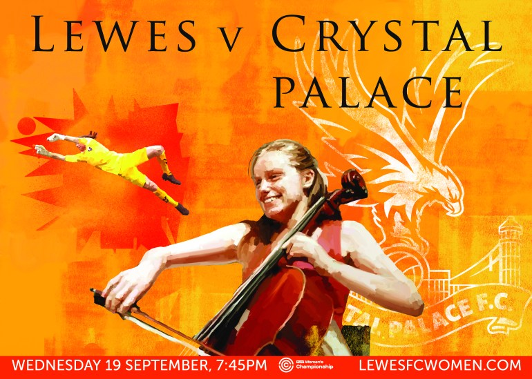 Lewes v Crystal Palace poster A4-01
