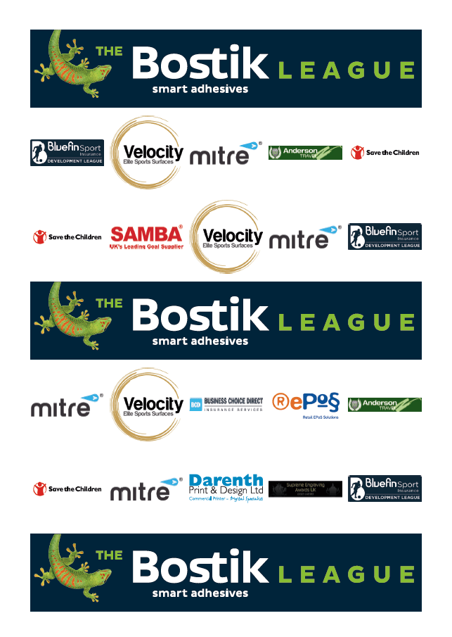 Bostik League sponsors