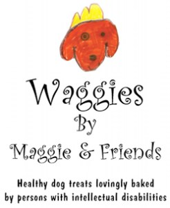 Logo for Waggies by Maggie & Friends