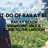 Must-Do of Railay Beach, Krabi Province, Thailand: Railay Beach Viewpoint Hike and Climb to The Lagoon