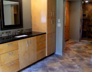Cabinetry & Walk-in Shower