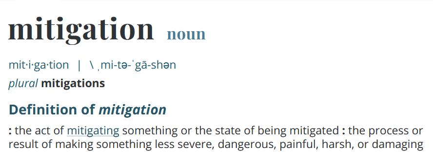 """""""mitigation"""""""