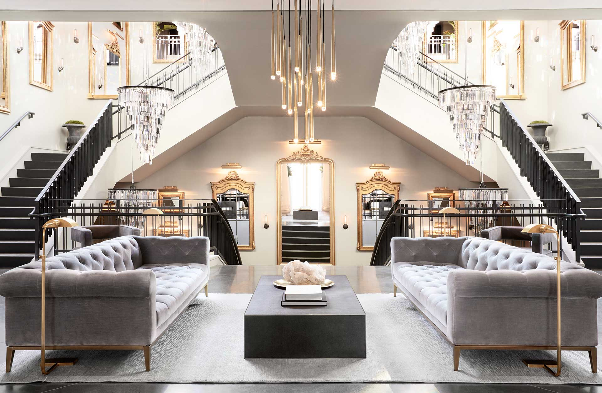 restoration hardware living room paint samples gallery lease crutcher lewis grand staircase and chandelier