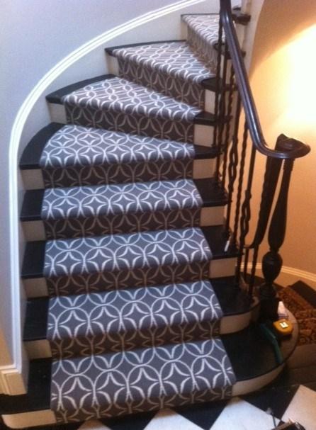 Kenilworth Stairway Carpet Runner Lewis Floor And Home | Carpet Runners For Steps | Good Quality Carpet | Starter Step Carpet Runner | Solid Colour | Hollywood | Light Grey