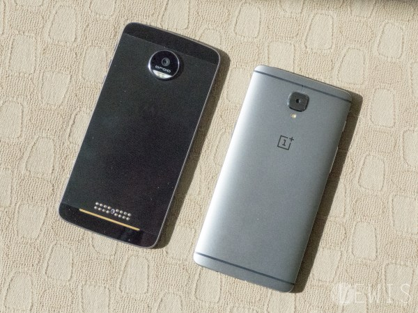 Moto Z vs OnePlus 3 rear