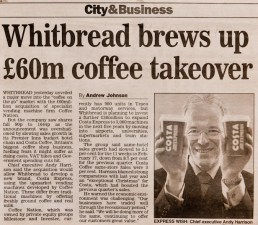 Daily Express: Whitbread CEO Andy Harrison