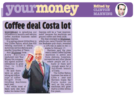 Daily Mirror: Andy Harrison, Whitbread CEO