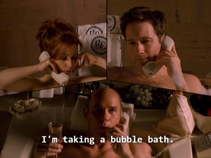 xfiles skinner bubblebath