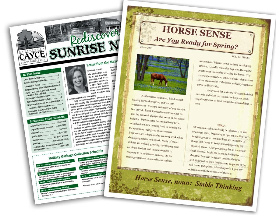 newsletter design and printing