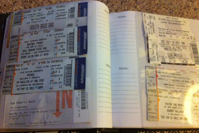 Photo Albums The Best Way To Store Your Ticket Stubs Lexagator Loves