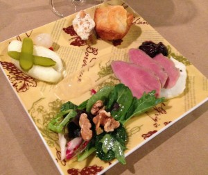 Wines of Burgundy France Event Tasting Plate June 3 2015 at Cork and Barrel