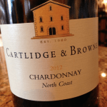 Cartlidge & Brown • 2012 Chardonnay California North Coast