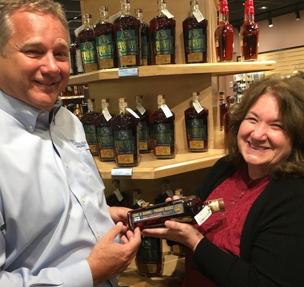 Cork and Barrel Lexington KY Boone County Bourbon Private Select presented to Blue Grass Airport 2