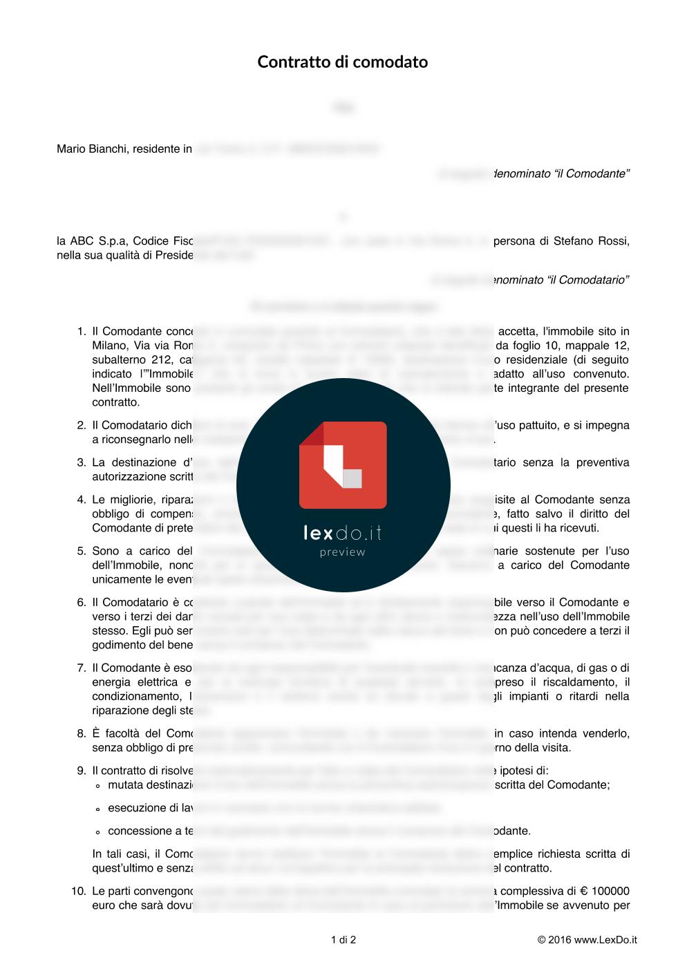 Premio Fac Simile Lettera Disdetta Contratto Affitto Auto