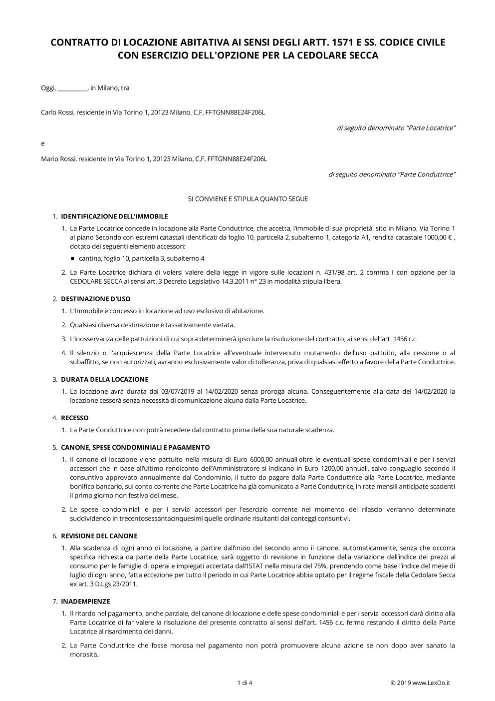 Contratto Di Locazione 44