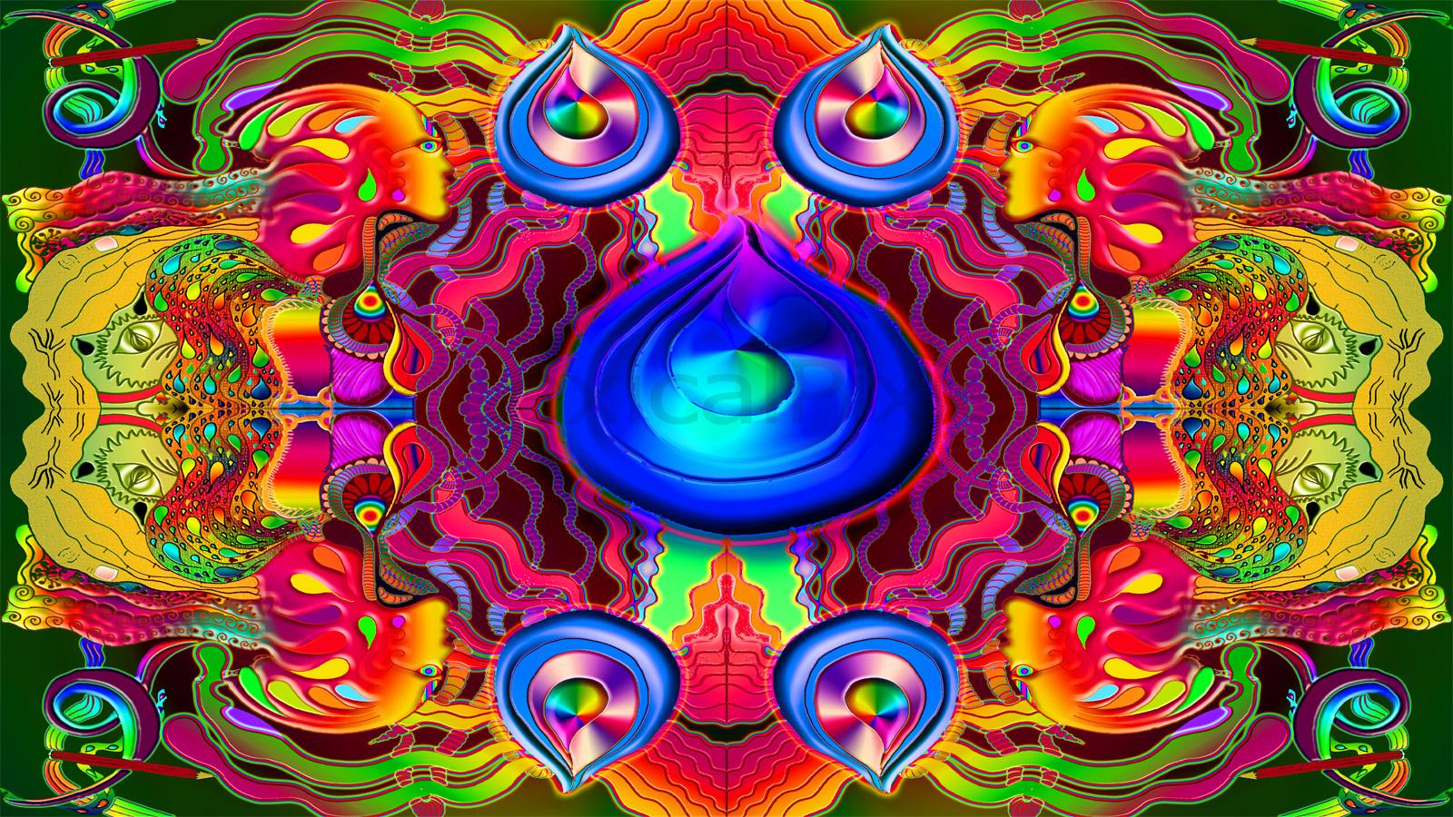 3d Mushroom Trip Wallpaper Psychedelic Lexicalpixies