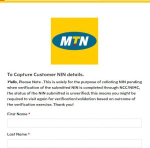 how to link to your NIN to your MTN SIM via MTN Online