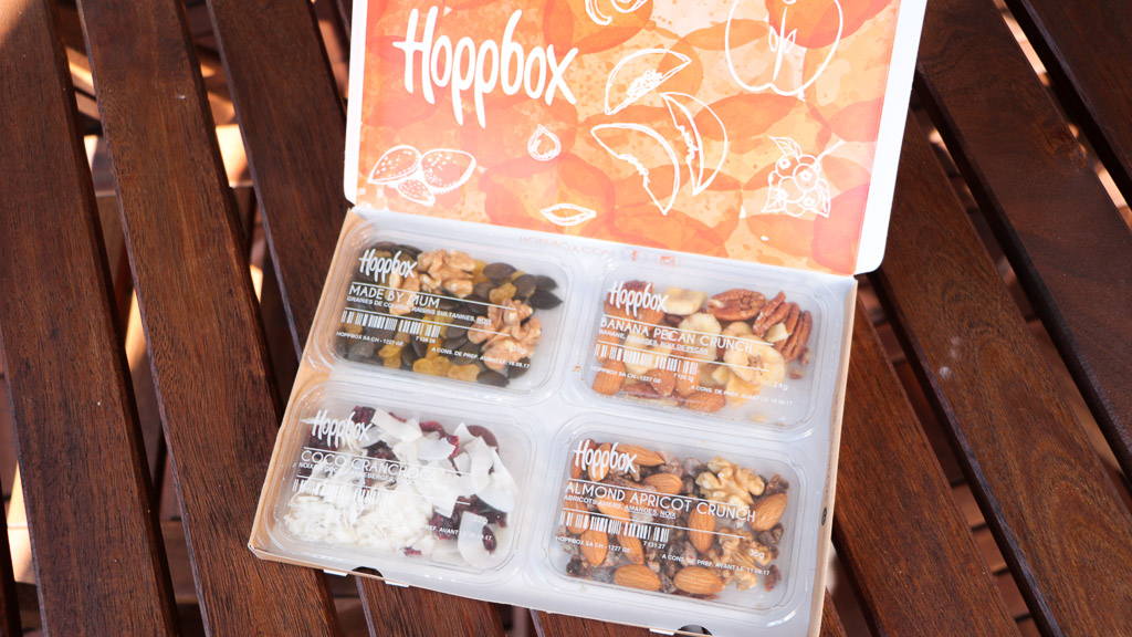 Hoppbox, la box suisse des snacks et en-cas healthy
