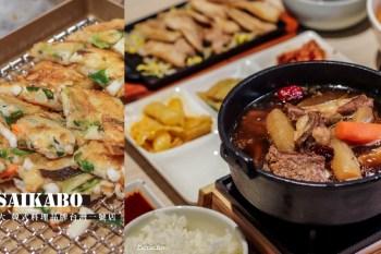 SAIKABO韓式料理,鐵板豬五花、辣牛肉烏龍、燉煮牛小排99元韓式Buffet吃到飽,日本知名連鎖品牌台灣一號店 南港車站美食
