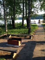 The dock we ran off of after we were too hot in the sauna (me: 2 mins in sauna, others: much longer)