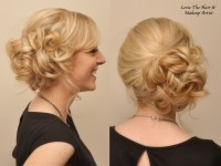 Messy-With-A-Purpose Side Bun Updo!  Lexie Hair and Make-Up