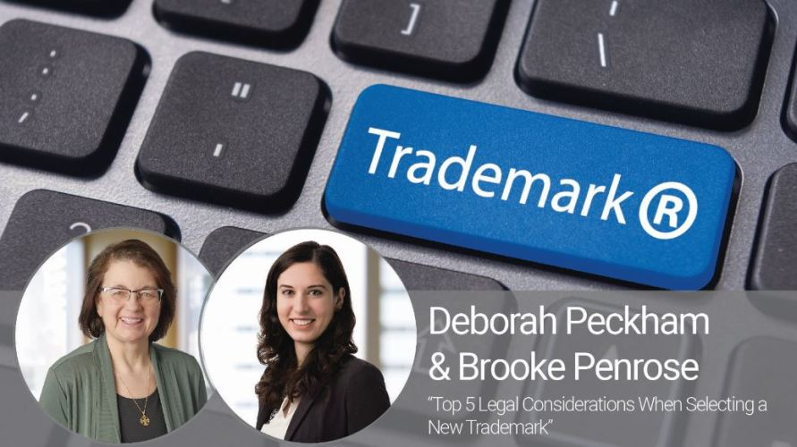 Top 5 Legal Considerations When Selecting a New Trademark