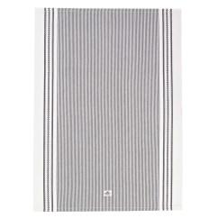 Gray Kitchen Towels Tile Backsplashes Oxford Dark White Striped Towel