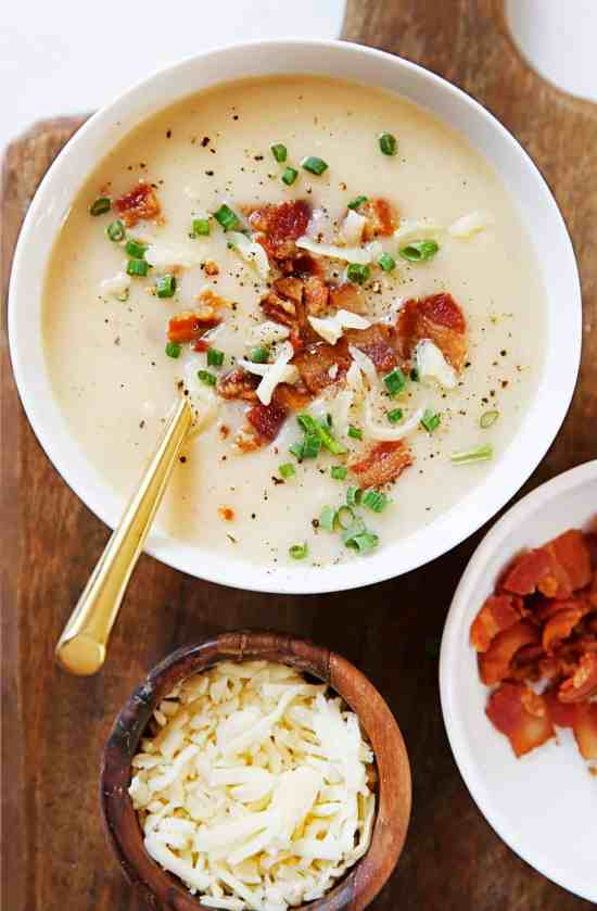 Image result for Baked Potato Soup instant pot