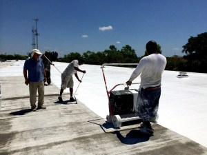 Elastomeric Coating Application by Coating Spreader