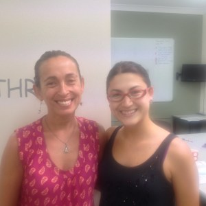 Fernanda with IELTS teacher, Anjali