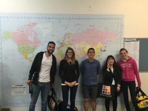 Jose (Brazil), Ananda(Brazil), Ju Suk (Korea), Sunmi (Korea), Morgane (France)