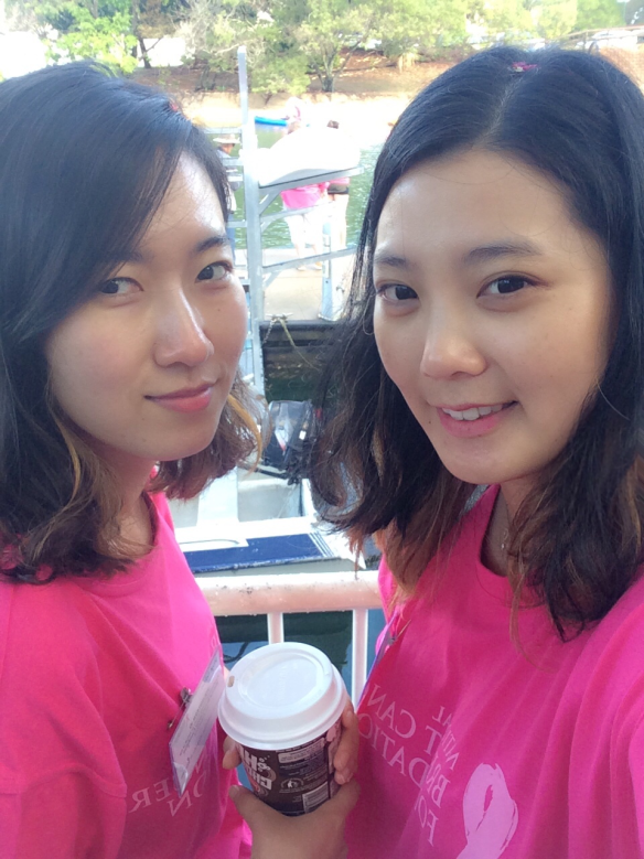 Hyewon and Jung Yun at the Paddle in Pink Event