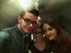 Christmas movie night with Eldin and Esma :)