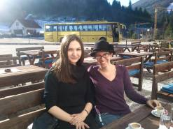 Ana and I at lunch on the mountains.