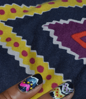 Monday Mani Muse – Tribal Print Marc by Marc Jacobs dress