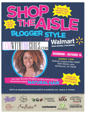 "Richmond, VA!! Wal-Mart's ""Shop The Aisle"" Featuring ME. RSVP"