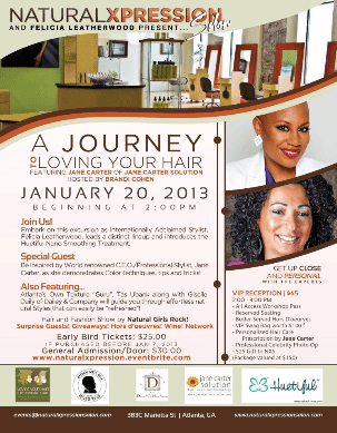ATL- Natural Xpression & Felicia Leatherwood Present A Journey To Loving Your Hair + Giveaway Tix