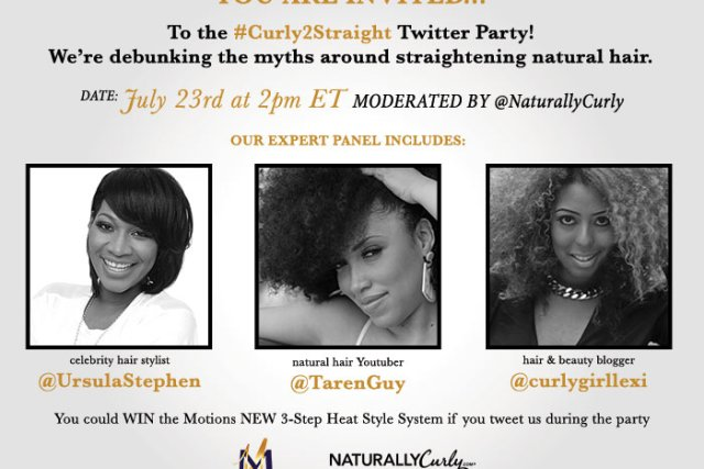 Tune In Tuesday #Curly2Straight Twitter Party!