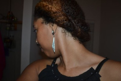 Quick Glam Updo – Natural Hair