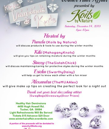 Koils By Nature Presents #ATLwinterhairaffair 12/14