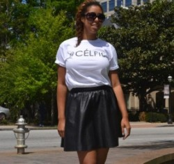 #FABFriday Casual #OOTD Leather A Line Skirt