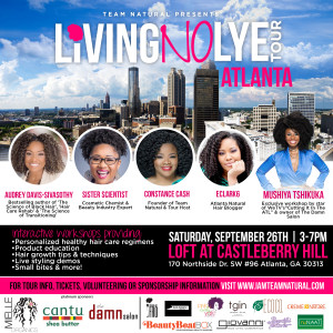 Atlanta! Living No Lye Tour Stops By 9/26